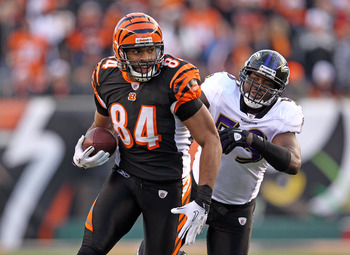 Simple: Jermaine Gresham catches, Heath Miller blocks for the All-AFC North Team.