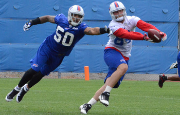 Scott Chandler (84) looking for continued success in 2012 (photo courtesy of BuffaloBills.com).