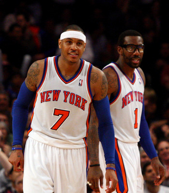 Knicks Carmelo Anthony and Amar'e Stoudemire