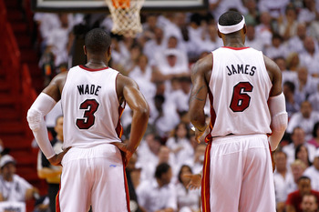 Miami's LeBron James and Dwyane Wade