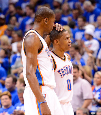 Oklahoma City's Kevin Durant and Russell Westbrook