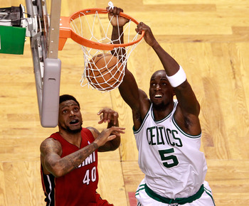 Kevin Garnett's playoff performance will help his value as a free agent.