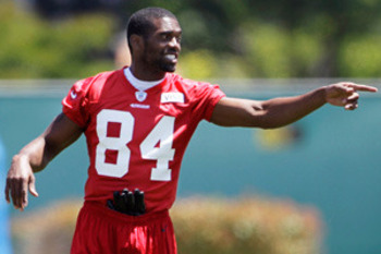 Moss looking as confident as ever at a 49ers' offseason practice. Courtesy of NFLRush.com