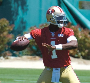 Johnson could leapfrog Kaepernick on the QB depth chart. Courtesy of SFExaminer.com
