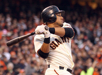 Melky Cabrera continues to lead the NL with a .366 average.