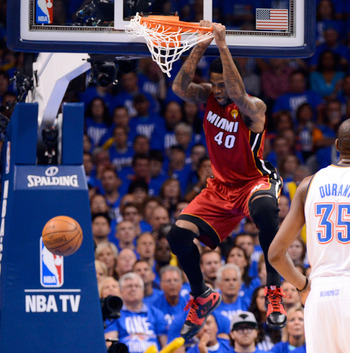 Udonis Haslem's rebounding has been critical to the team's success.