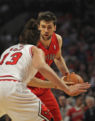 Bargnani and the Raptors are looking for scoring help on the wing.