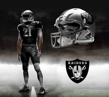 the raiders have always tried to have a scary look associated with