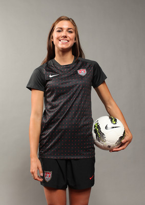 DALLAS, TX - MAY 15:  Soccer player, Alex Morgan, poses for a portrait during the 2012 Team USA Media Summit on May 15, 2012 in Dallas, Texas.  (Photo by Nick Laham/Getty Images)