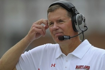 Randy Edsall on the Maryland sidelines in 2011.
