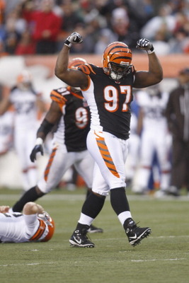 Geno Atkins, walking away from his prey.