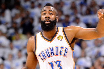 Thunder guard James Harden