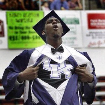 Alex Poythress Showing Off His New Digs At Graduation