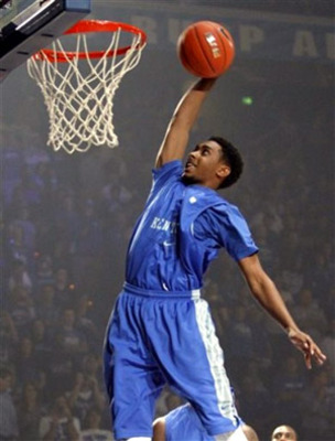 Ryan Harrow Dunks During Last Year's Big Blue Madness