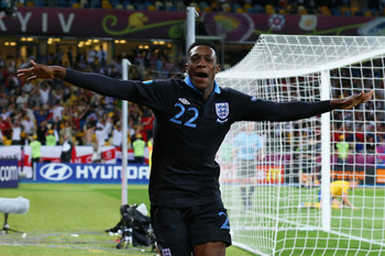 Danny Welbeck scored a wonderful goal against Sweden.