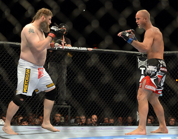 Roy Nelson's KO of Dave Herman kept his job secure and brought back memories from when he was a top-ten heavyweight. Photo by US Presswire.