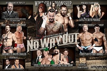 WWE No Way Out 2012 Match Card