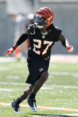 CINCINNATI, OH - MAY 11: Dre Kirkpatrick #27 of the Cincinnati Bengals works out during a rookie minicamp at Paul Brown Stadium on May 11, 2012 in Cincinnati, Ohio. (Photo by Joe Robbins/Getty Images)