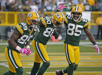 James Jones, Donald Driver, Greg Jennings