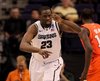 Michigan State's Draymond Green could be a good fit in Miami.