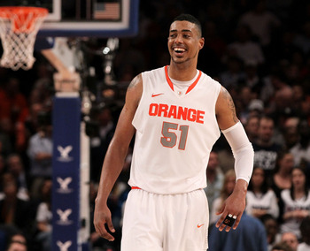 Too Melo? Questions about Fab Melo's work ethic could cause him to fall into the mid-20s.