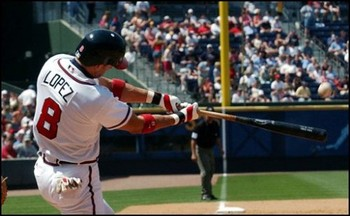 Javy Lopez hit 43 home runs in 2003.