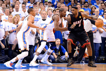 The Thunder have been able to force the Heat into taking outside shots when they play focus and energetic defense