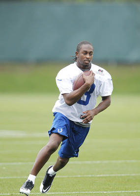 T.Y Hilton runs with the ball in Colts OTAs.
