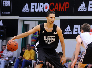 Evan Fournier at the adidas Euro Camp.