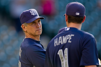 Hawpe played 444 innings at first base while with the Padres.