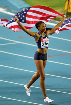 Allyson Felix should win the 200-meters.