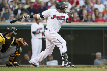 Indians catcher Carlos Santana is homerless in his last 22 games.