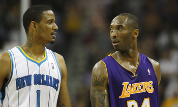 Trevor Ariza (#1) and his two year contract that averages over $7 million is out of the big easy.
