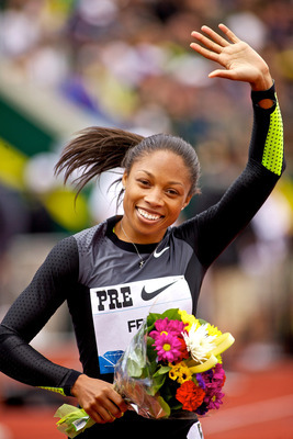 Allyson Felix should win the 200 meters if she can hold off Carmelita Jeter.