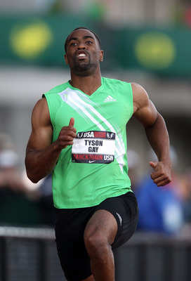 Tyson Gay is running through the pain in his Olympic quest.