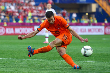Robin Van Persie Misses a Sitter at Euro 2012