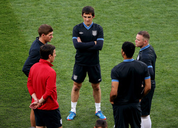 Baines, Gerrard, Rooney, Lescott and Neville.