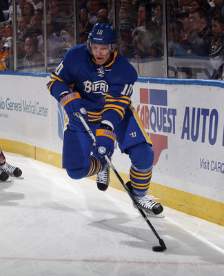 Ehrhoff suffered a few injuries in his first season with the Sabres, limiting his output.