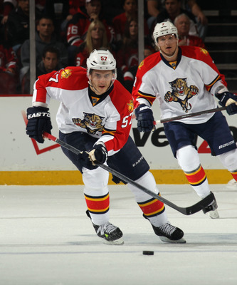 Goc with his current team, the Florida Panthers.