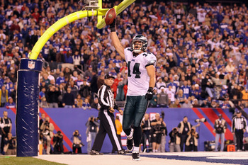 Cooper celebrates the game-winning touchdown against New York.