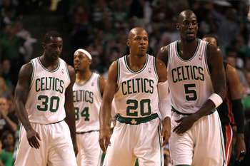 How Danny Ainge handles Allen, Bass and Garnett will be pivotal to Boston's future.