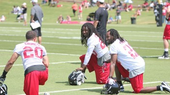 The new trio of cornerbacks on the Falcons' roster (photo courtesy of the Atlanta Falcons).