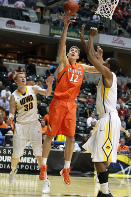 Illinois center Meyers Leonard's stock has been skyrocketing.