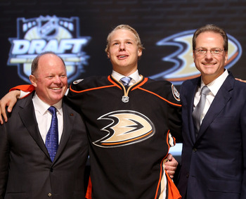 Hampus Lindholm joins the Ducks from the Swedish leagues, where he finished +25 at Junior level.