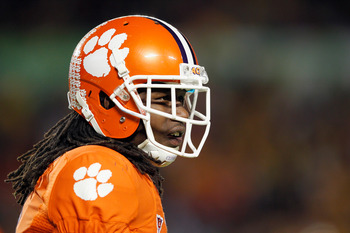 MIAMI GARDENS, FL - JANUARY 04:  Sammy Watkins #2 of the Clemson Tigers looks on against the West Virginia Mountaineers during the Discover Orange Bowl at Sun Life Stadium on January 4, 2012 in Miami Gardens, Florida.  (Photo by Mike Ehrmann/Getty Images)