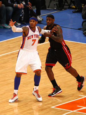 Now that LBJ has his title, Melo will be under pressure to get his.