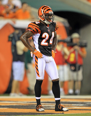 CINCINNATI - AUGUST 20:  Adam Jones #24 of the Cincinnati Bengals is pictured during the NFL preseason game against the Philadelphia Eagles at Paul Brown Stadium on August 20, 2010 in Cincinnati, Ohio.  (Photo by Andy Lyons/Getty Images)