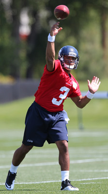 "The height of Wilson's delivery is on-par with the average 6'2"" NFL QB."