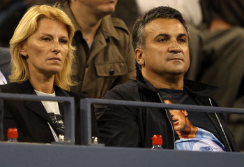 Nole's mother Dijana and father Srdjan