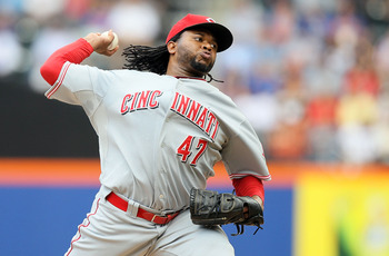 Johnny Cueto won all three of his starts against the AL.